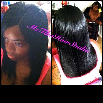 Mrstika hair studio invisible part quick weave your natural hair is molded pmusecretfo Choice Image